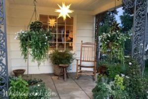 Iluminación del porche de la granja - estrella de moravia todo el año