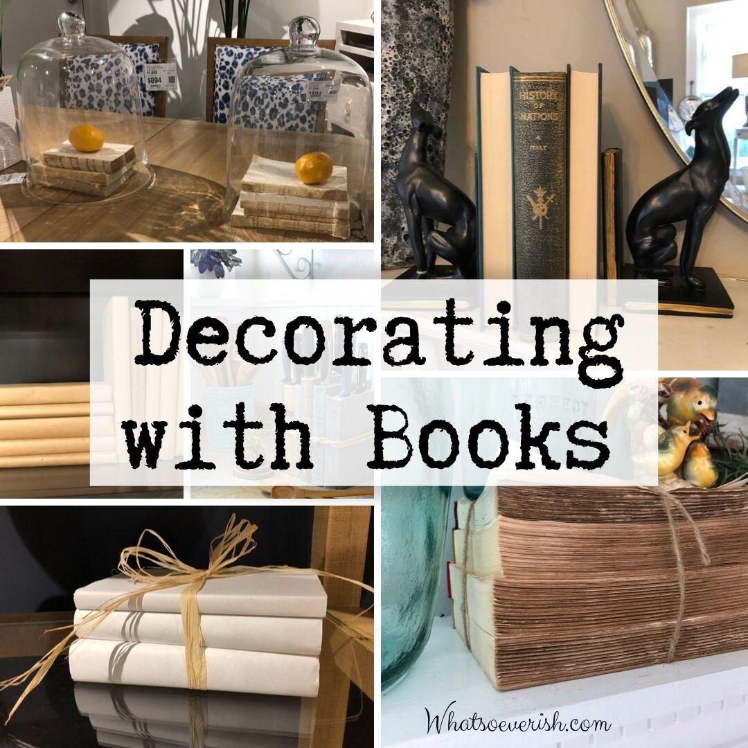 Decorating with books  Whatsoeverish
